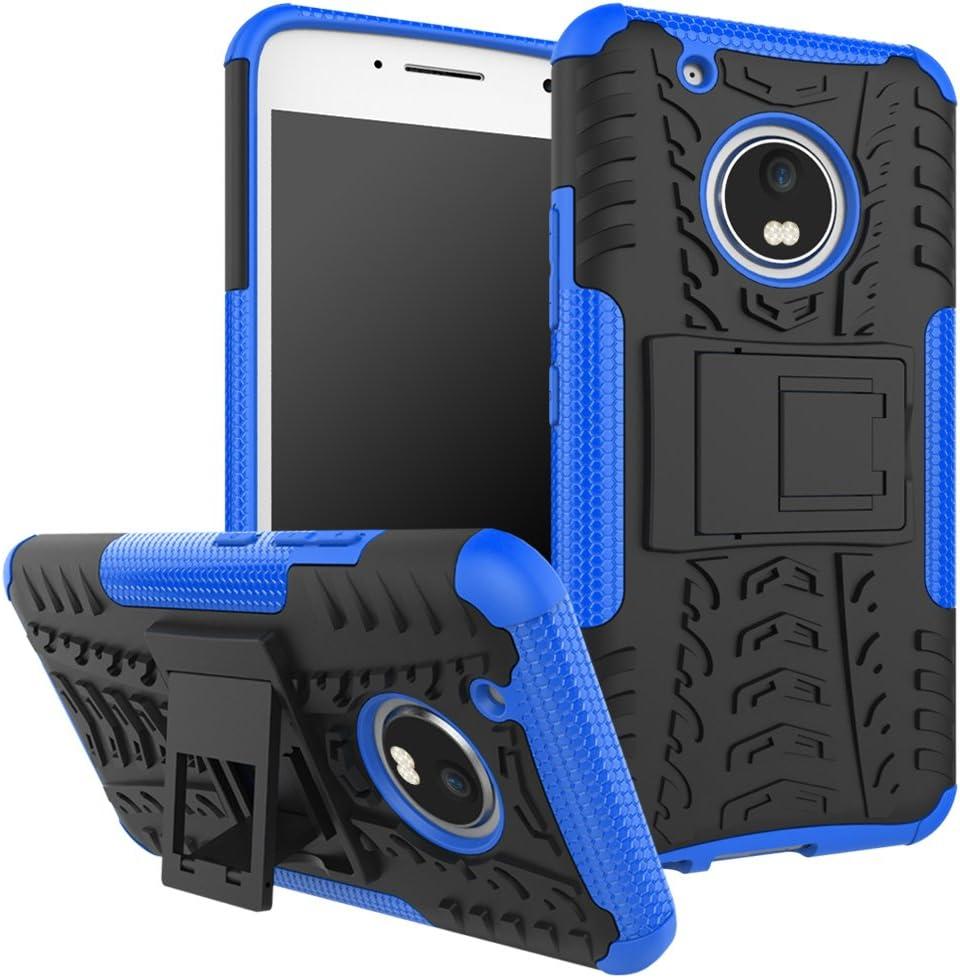 funda resistente para motorola g5 plus azul