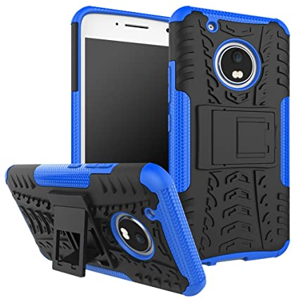 OEAGO Moto G5 Plus Case, Motorola Moto G Plus (5th Generation) Case, [Shockproof] Tough Rugged Dual Layer Protective Case with Kickstand for Motorola ...