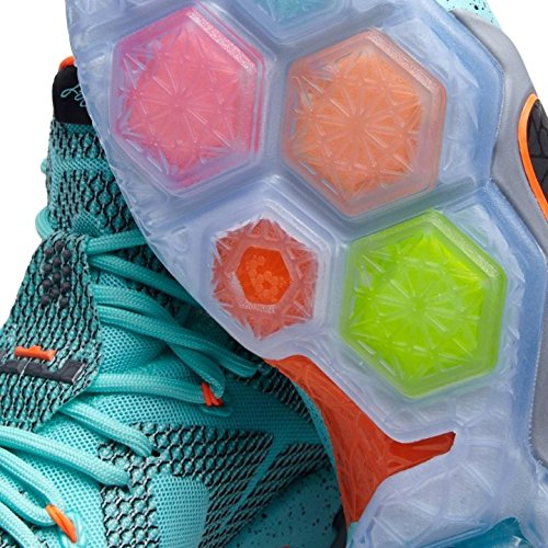 Nike Lebron Xii Mænds Basketball Sko Hyper Turkis / Sort / Metallic Kølig Grå / Hyper Crimson 92qcR