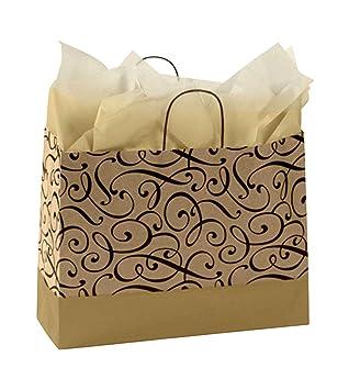 Amazon.com: GHP - Bolsa de la compra con asa, 100 piezas ...
