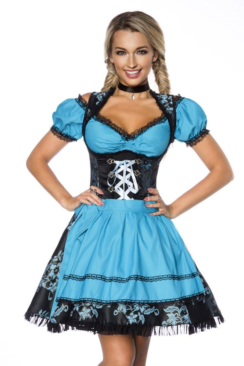 Heels-Perfect - Zuecos de Poliéster para mujer X-Small negro/azul