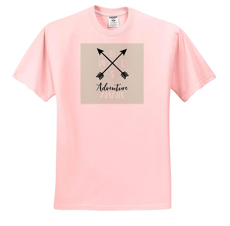 Adult T-Shirt XL Adventure Awaits Mint 3dRose Janna Salak Designs Boho ts/_319881