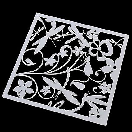 Stencil Mask Airbrush Painting Arts Home Decor Scrapbooking Album DIY Crafts New