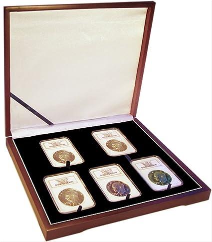 Display Box 1 Coin NGC//PCGS//Premier//Lil Bear Certified Slab Wood Gloss Finish