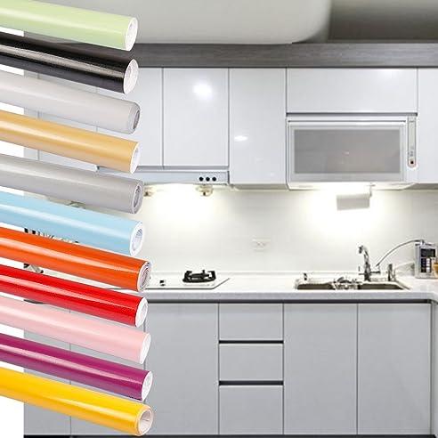 0.61x5M(BxL) Grau Küchenschränke Aufkleber PVC Selbstklebend ...