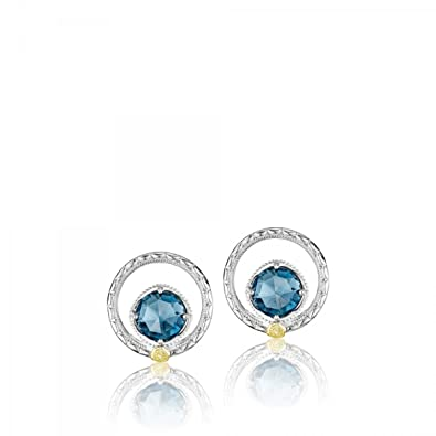 f29afbd8e Image Unavailable. Image not available for. Color: Tacori SE14033 Sterling Silver  Island Rains Silver Bloom Gem Stud Earrings