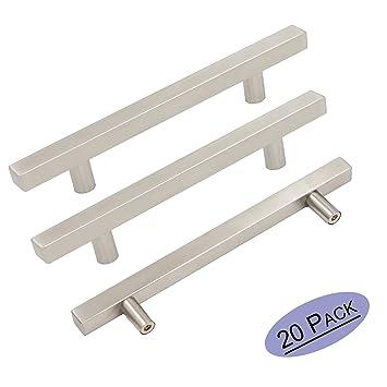 5in Drawer pulls Brushed Stainless Steel Cupboard Door Handles ...