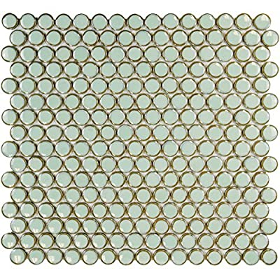 SomerTile Penny Porcelain Mosaic Floor and Wall Tile