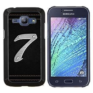 LECELL--Funda protectora / Cubierta / Piel For Samsung Galaxy J1 J100 -- Número 7 --