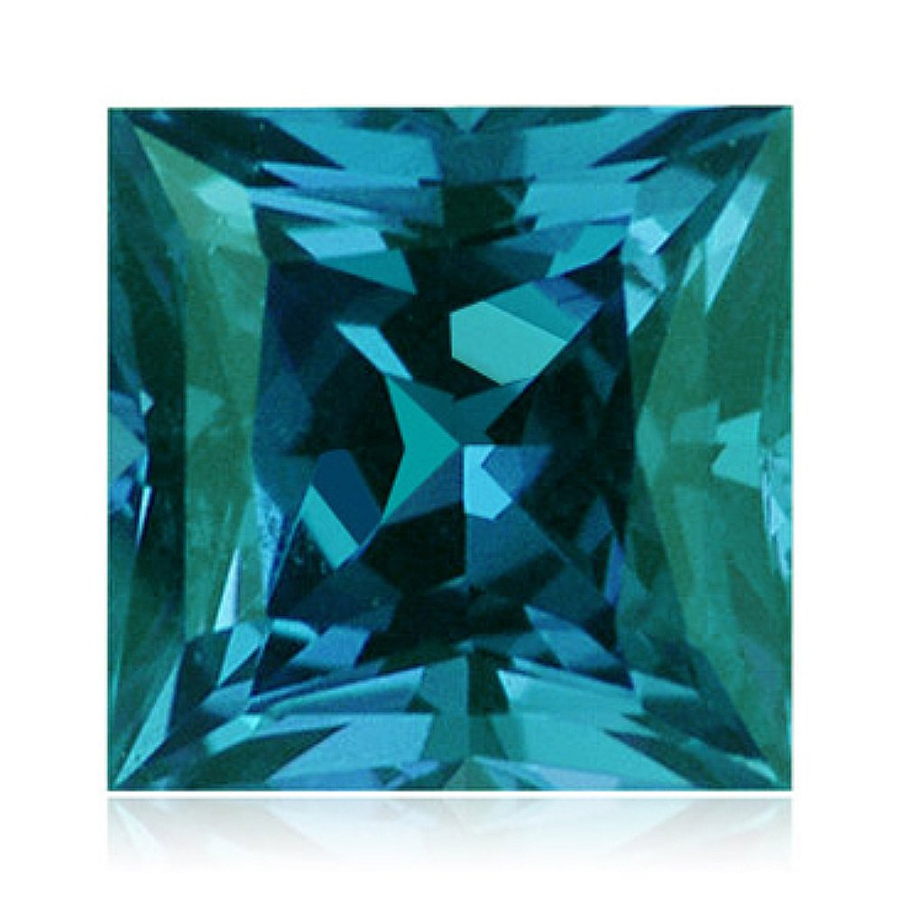 1.86-2.02 Cts of 7 mm AAA Princess Russian Lab Created Alexandrite ( 1 pc ) Loose Gemstone