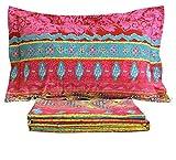FADFAY Exotic Boho Style Bed Sheet Set 4Pcs-King