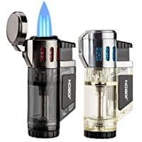 Deals on 2-Pack LcFun Torch Lighters Triple Jet Flame Butane Lighter