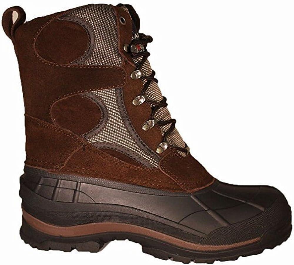 Adult Black Eurbak Mens Extra Wide Waterproof Outdoor Winter Boot