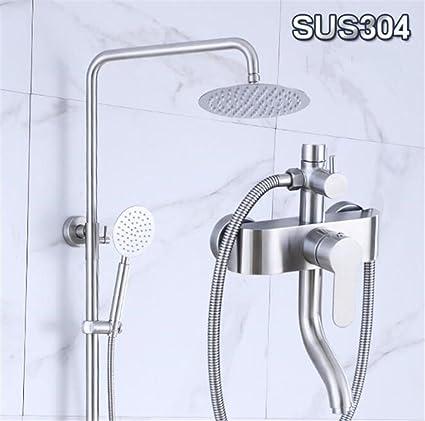 FFJTS Juego de ducha de acero inoxidable 304 Calentador de agua solar montado en la pared