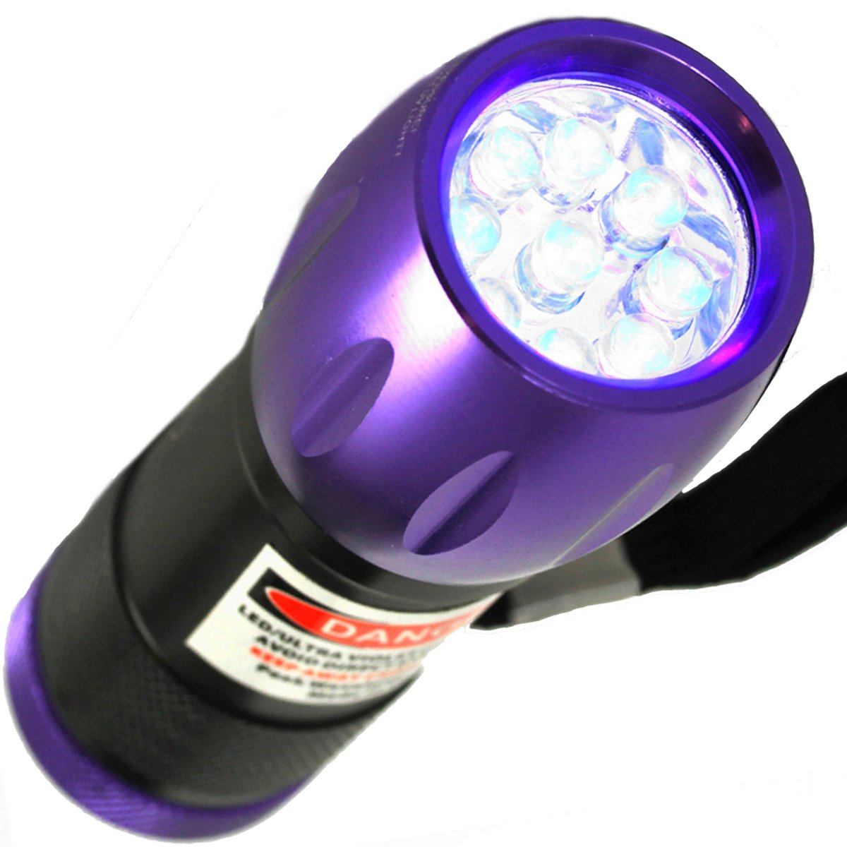 UV LED Ultraviolet Blacklight Emergency Flashlight for Scorpions, Urine, Counterfeit, Stains, Germicidal, Auto Leaks, Hunting, Antiques, Forensics, Camping and more. Finds the Invisible and Makes It Known.