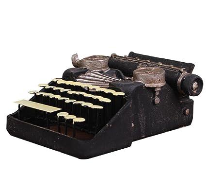 GL&G Retro Pequeña máquina de escribir modelo Resina Artesanía Casa bar Decoraciones Accesorios de fotografía Escenas