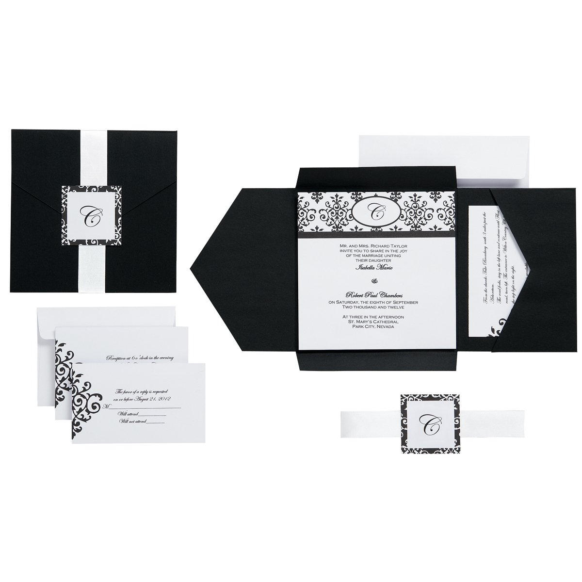 wedding pocket invitation kits amazon com