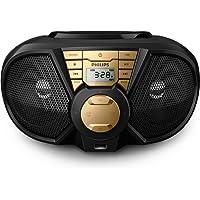 Radio Boombox Portatil CD/USB/FM/AM PX3115GX/78 PRETO/DOURADO 5W