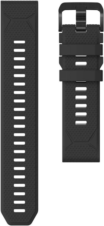 Accesorios para reloj de aventura GPS COROS VERTIX   Correa de liberación rápida de silicona 22 mm, Negro