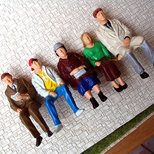 5 pcs G scale Figures 1:22.5 All Seated Painted People Bachmann G Scale White Christmas