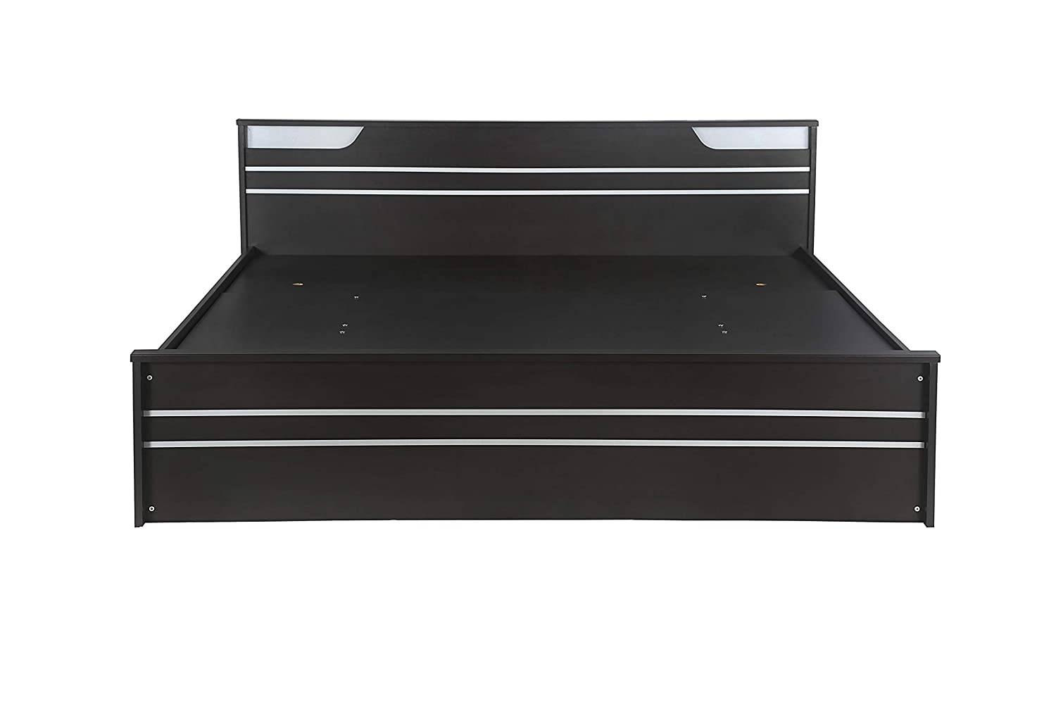Zuari Neo Queen Hydraulic Half Lift On Storage Bed (Imperial Teak)