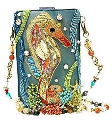 Beaded Crystal Seahorse Handbag