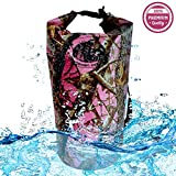 Sportsman Dry Bag 20L- Premium Waterproof Pink Camouflage Sack Best For Camping, Kayak, Paddle Board, Beach, Hiking, Boats, Fishing Or Your Jet Ski. Keeps Your Personal Items Safe & Dry.