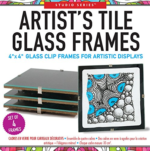 Price comparison product image Studio Series Artist's Tile Glass Frames (Set of 4 clip frames for tiles, miniature art, and photos)