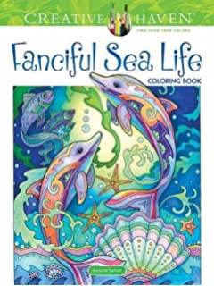 Creative Haven Fanciful Sea Life Coloring Book Adult