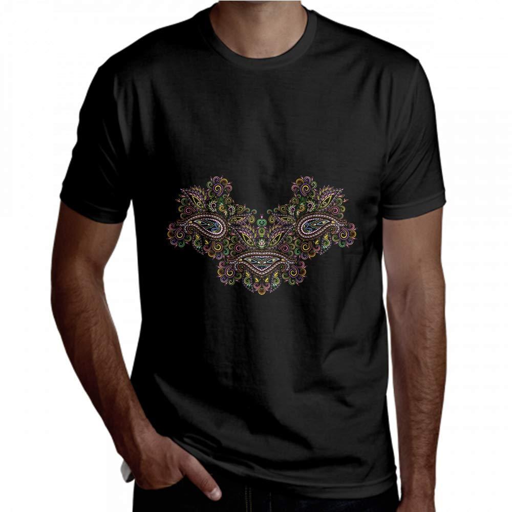 Funny T Shirts for Men Bohemian Geometric Color Traditional Short Sleeve Men