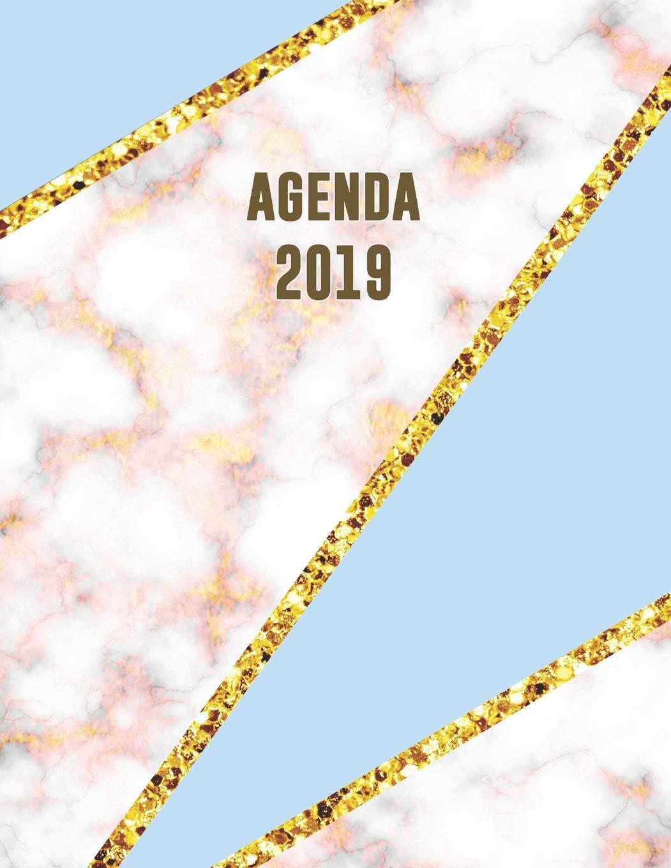 Agenda 2019: Trendy & Hippe Planner | Cyaan Blauw Roze Goud ...