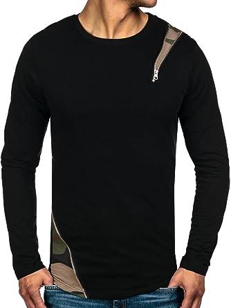 BOLF Herren Sweatshirt Langarmshirt Pullover Pulli Camo Zip Classic 1A1  Motiv  Amazon.de  Bekleidung 6e1d95e676