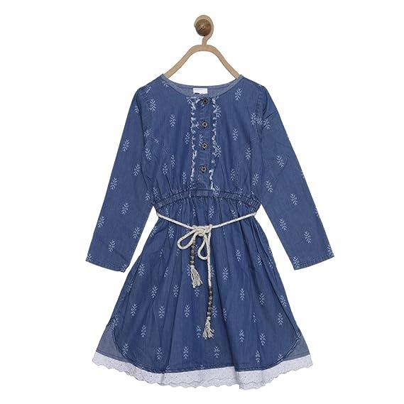bf71835ec748 612 League a-line Girls' Dress (ILW17I52019_Blue_3-4 Years)
