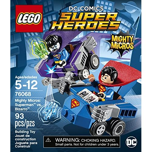Lego Mighty Micros SUPERMAN et Bizzaro Minifigures from set 76068