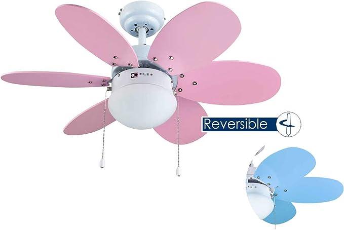 Bastilipo Aguadulce Ventilador de Techo con Luz E27, 60 W, Blanco ...