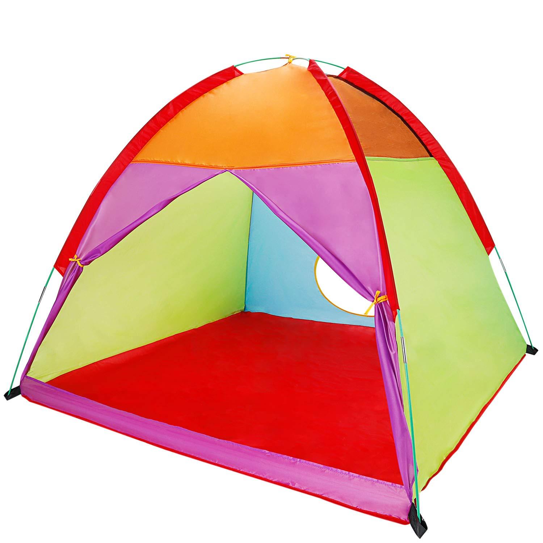 Gorich 子供用 テント 子供用 プレイテント 幼児 テント プレイハウス 子供用 屋内 屋外 58インチx58インチx47インチ B07HWQLFP3