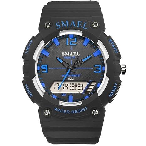 JBP Max Mens Deportes Impermeable Reloj Multi-Función Reloj Digital De Moda Digital Puntero De