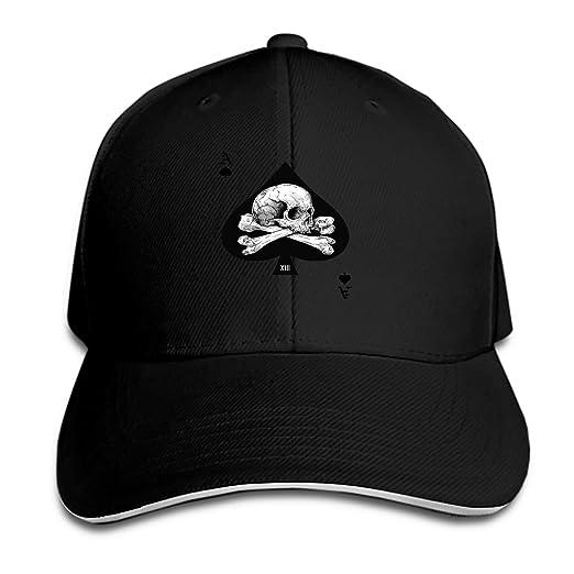 Amazon.com  Ace of Spades Snapback Cap Flat Bill Hats Adjustable Blank Caps  for Men Women  Clothing f4974a8a09b