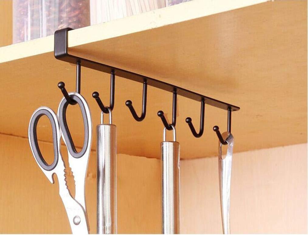 Quaanti 2018 Kitchen Storage Rack Cupboard Hanging Hook Hanger Chest Storage Organizer Holder Kitchen Accessories Organizer (Black)