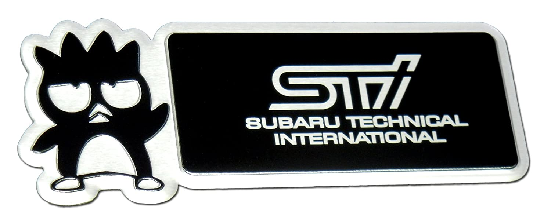 Amazon.com: Subaru Technical International STi Bad Badtz Badz Batz Maru Aluminum Emblem Badge Nameplate Emblem Logo Decal Rare JDM for Turbocharged Subaru ...
