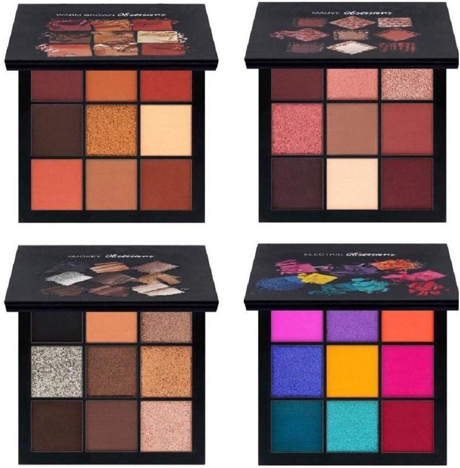 Qiuday - Juego de sombras de ojos para maquillaje de ojos (9 colores): Amazon.es: Belleza