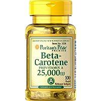 Puritan's Pride 2 Pack of Beta-Carotene 25,000 IU Carotene 25,000 IU-100 Softgels