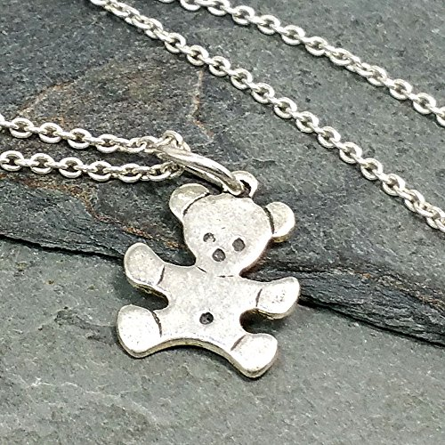 Teeny Tiny Teddy Bear Necklace - 925 Sterling Silver