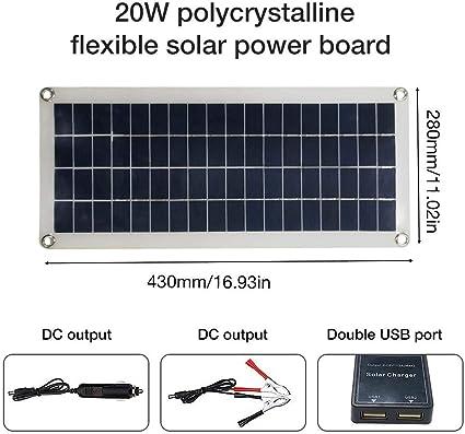 Tablero solar multiusos portátil del panel solar 20W / 40W ...