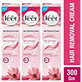 Veet Hair Removal Cream - 100 g (Normal Skin, Buy 2 Get 1 Free)