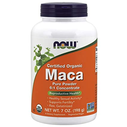 Now Foods Organic Maca 6:1 Concentrate Powder, 7-Ounce