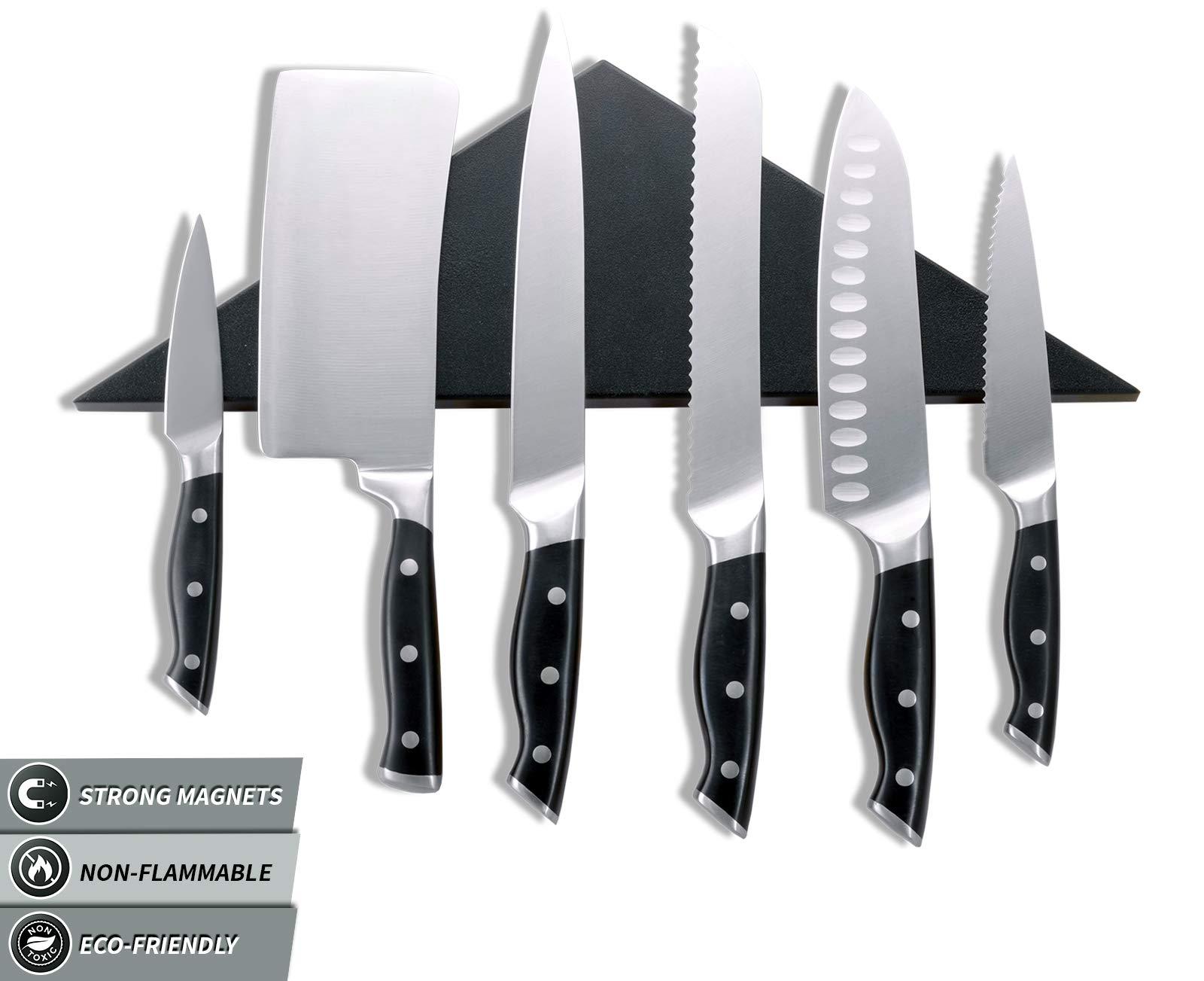 Agadda Premium Designer Stainless Steel Magnetic Knife Holder - Professional Magnetic Knife Strip/Knife Bar/Knife Rack - 17 inch (Black) by Agadda (Image #7)
