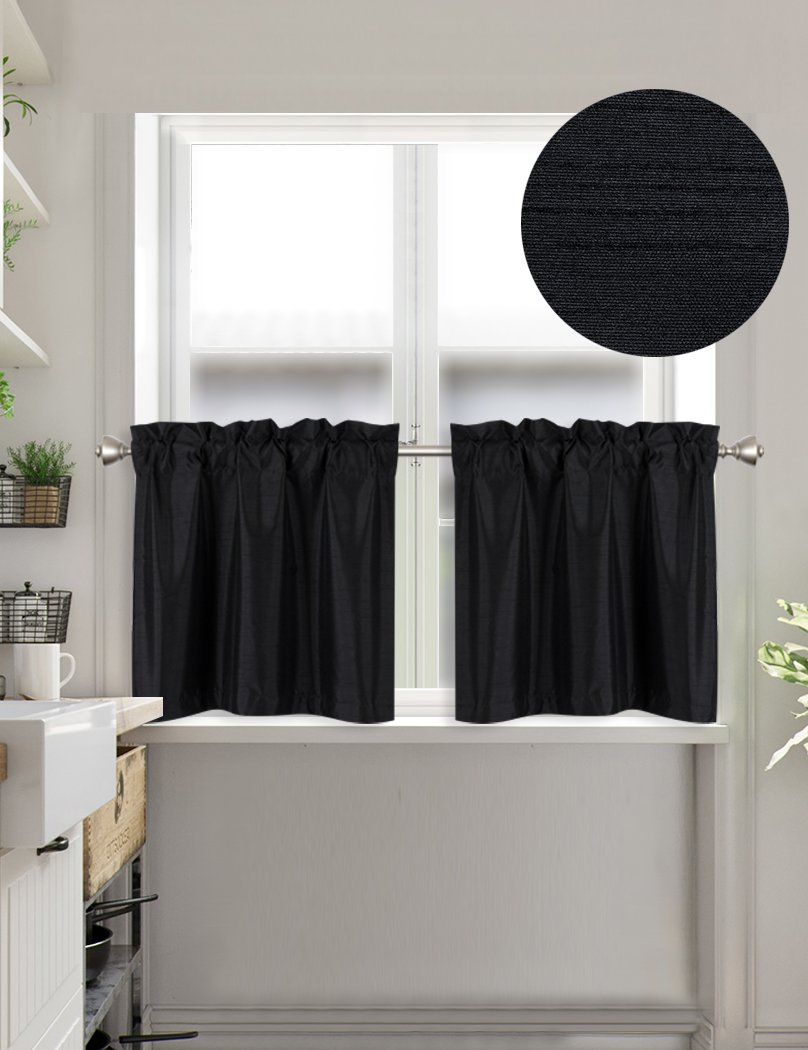 Set of 1 Short Straight Drape Valance Home Queen Rod Pocket Room Darkening Print Curtain Valance Window Treatment for Living Room Brown 54 X 18 Inch
