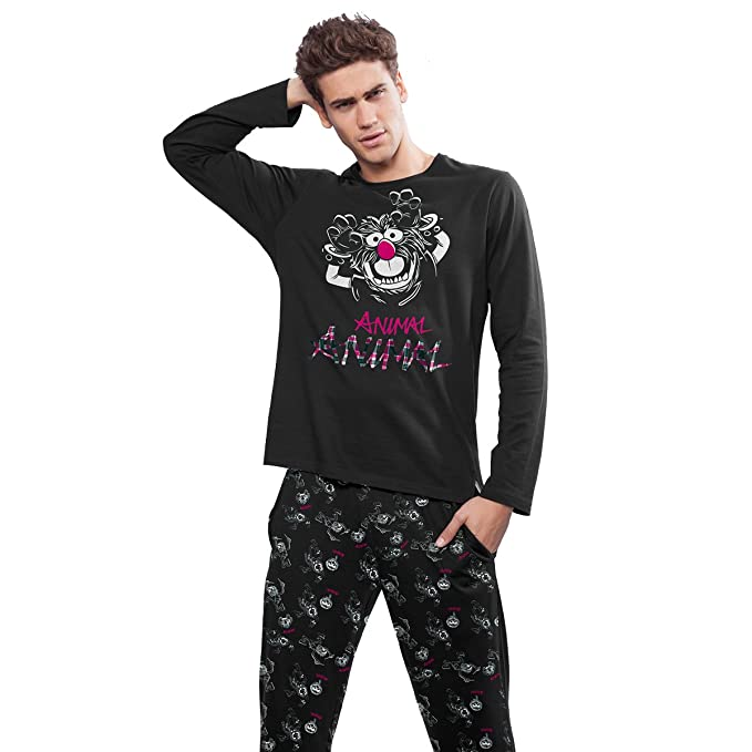 Pijama Teleñecos Animal Black Adulto