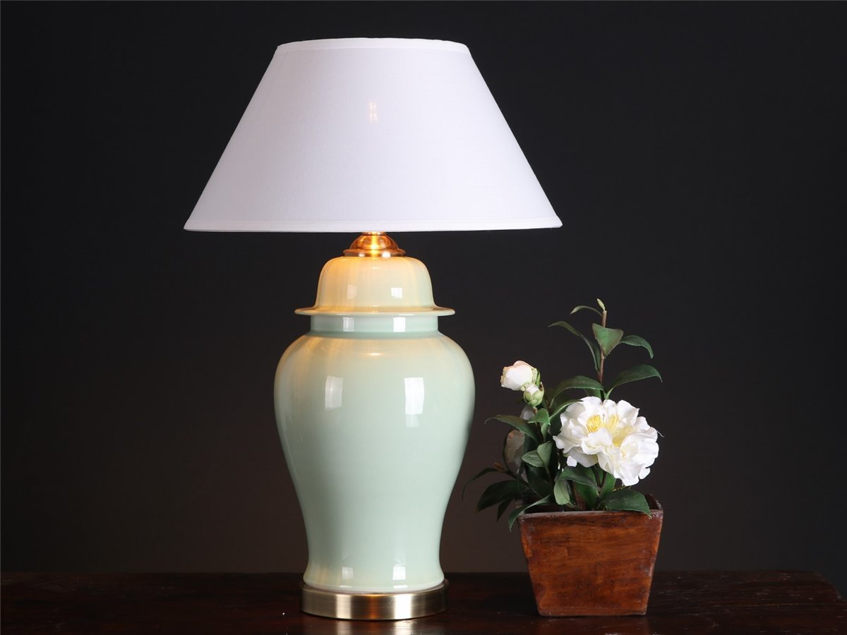 Lampe Tischlampe Vasenleuchte Tischleuchte Ginger Jar China Asia LA111